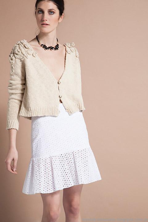 Moda verano 2015 faldas de broderie Vero Alfie.