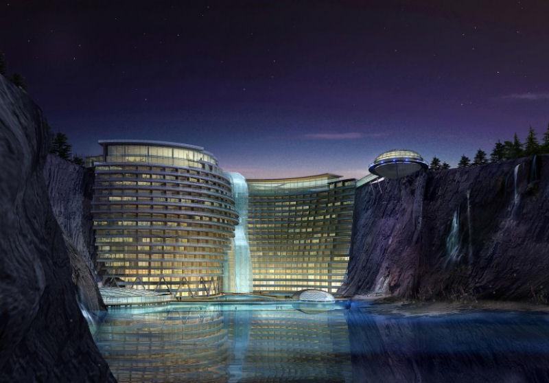 Incrível Hotel Entre Uma Pedreira
