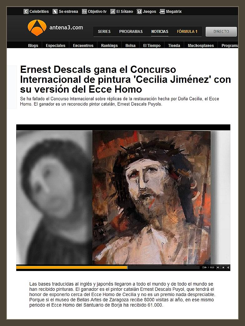 PINTURA-ECCE HOMO-PREMIOS-CONCURSO-CECILIA GIMENEZ-PINTOR-ERNEST DESCALS