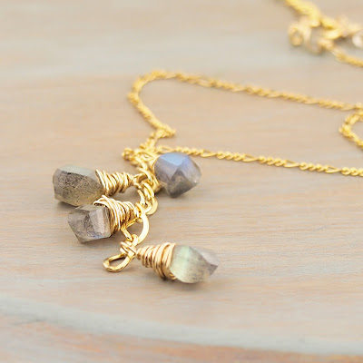 Blue Flash Labradorite 14K Gold Fill Necklace by Gahooletree Toronto
