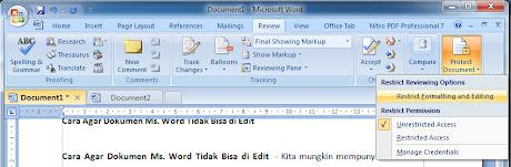 cara agar mw. word tidak bisa di edit 01