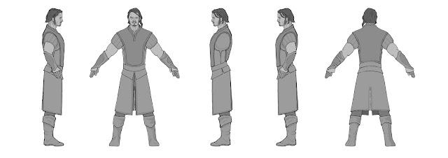 Fantasy Character Design Sheet : Preparing the model sheets medieval fantasy character