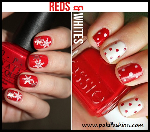 Nail art photo nail red and white here are few with red and white combination the nail art designs are beautiful have been collected from red and white nail art design prinsesfo Images