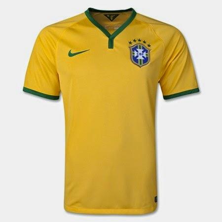 Kostum Timnas Brasil Piala Dunia 2014