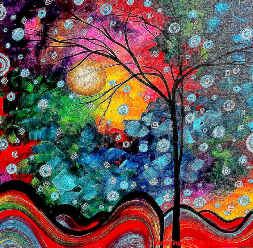 famous abstract tree paintings   Inspire Painting