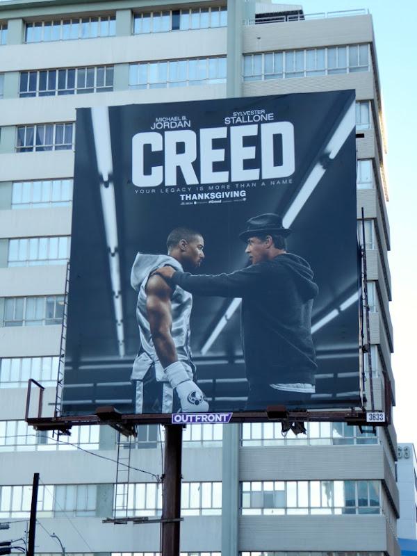 Creed movie billboard
