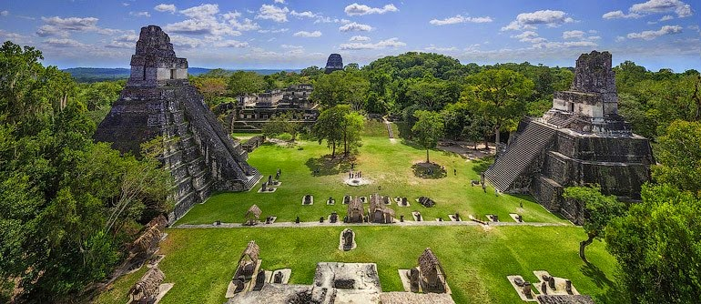 Tikal, pirámides mayas en Guatemala