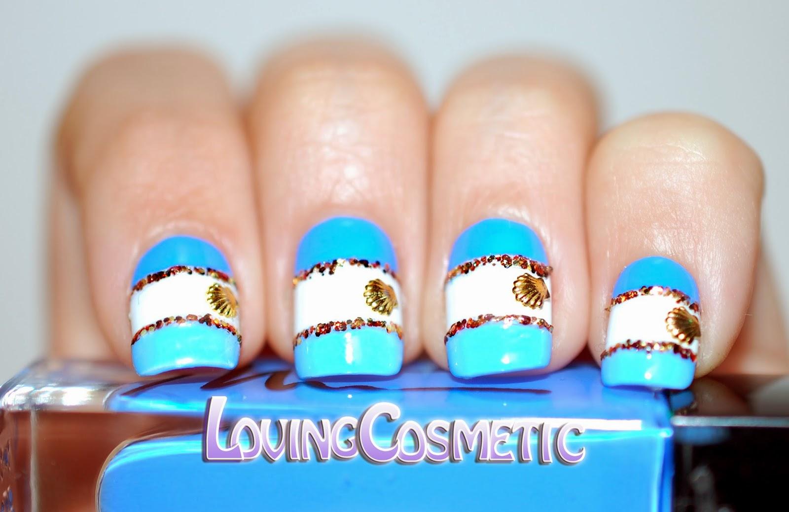 Nail Art Summer verano manicuras 2015 azul marionnaud bourjois facil