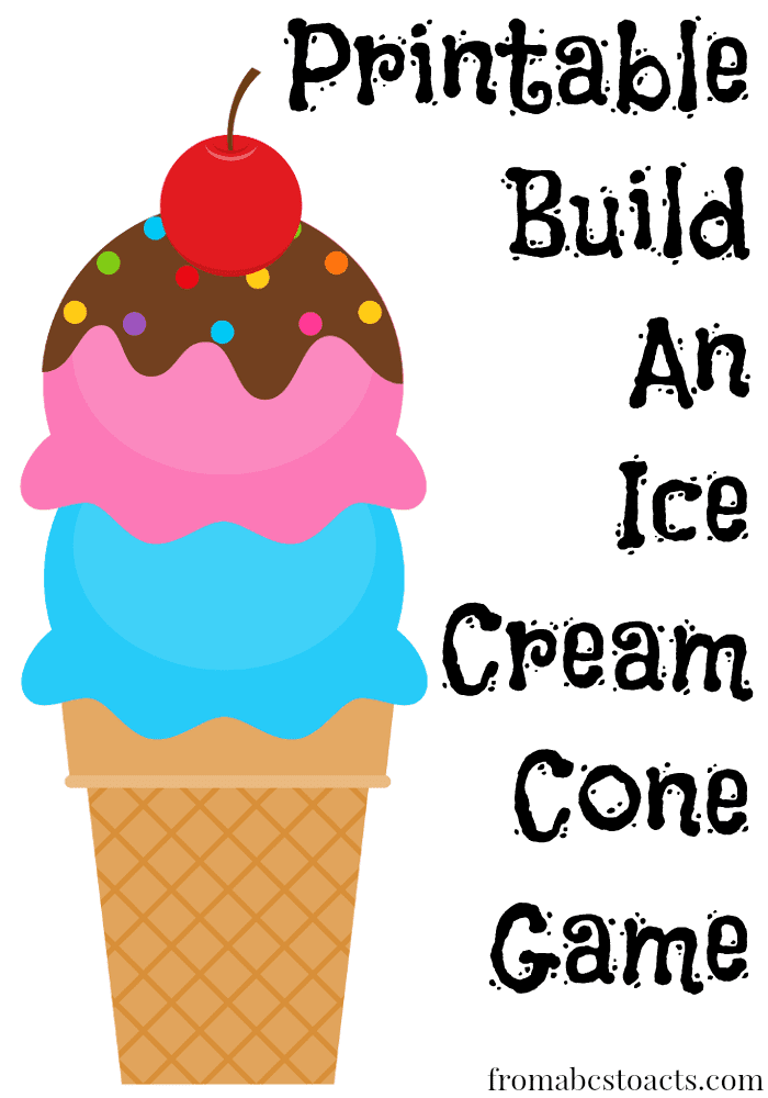 It's just a photo of Versatile Ice Cream Cone Printable