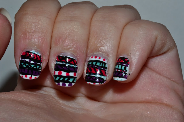 Tribal Nail Art by Elins Nails