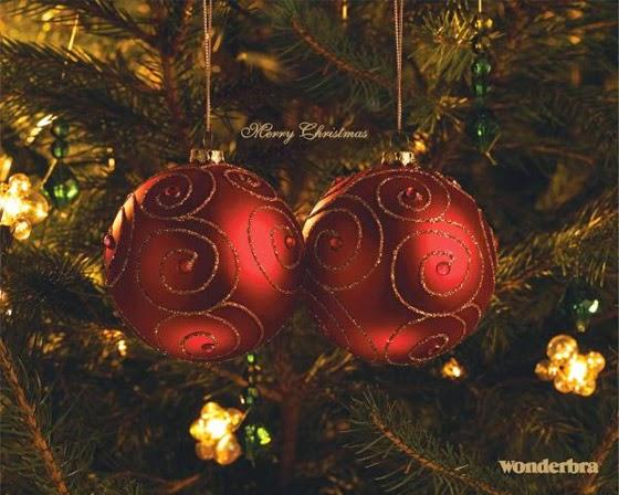 Publicidad creativa, navidad, Wonderbra