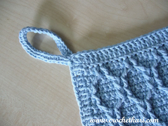crochet honeycomb wash cloth
