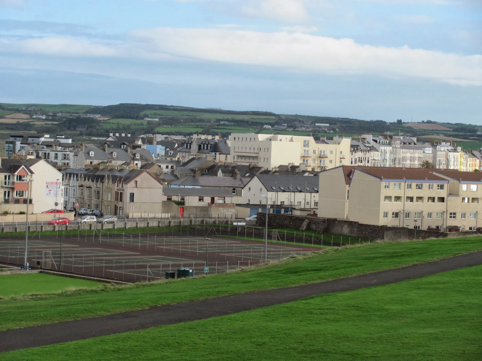 From the North tip, the whole city and peninsula is visible in Portrush, Northern Ireland