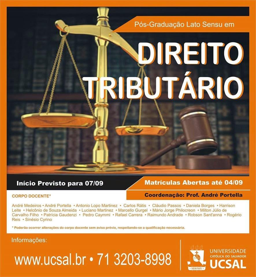 Pós Direito Tributário UCSal