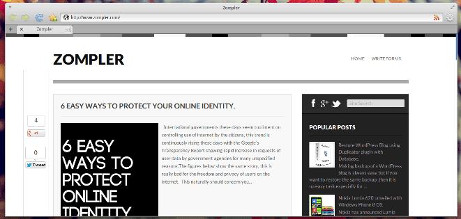 Luna os Midori browser