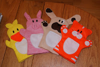 Farmyard Animal Hand Puppets