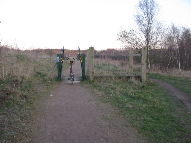 rubbish access barriers at the Beighton Landfill Site