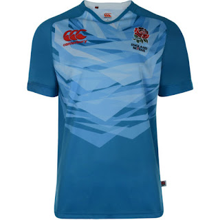 Canterbury Men's England Alternate 7's Rugby Pro Jersey - Blue