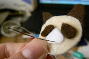 Cut out your pieces of felt (I cut up a picture of Mr Grumpy Cat himself as .