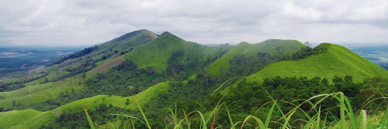 Panorama Of The Beauty Of Telang Pelaihari Hill