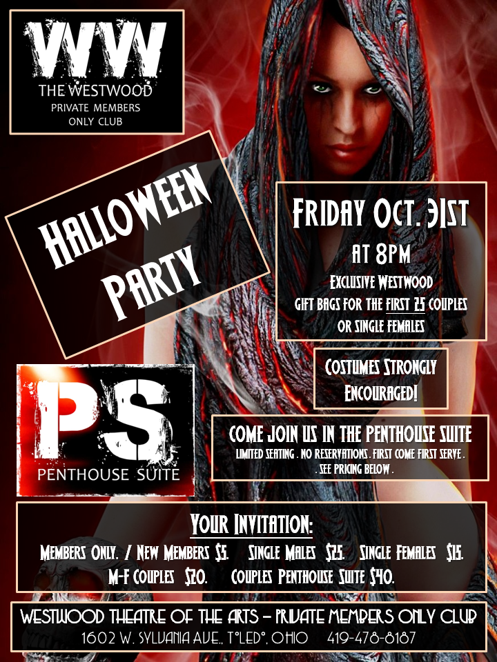 Westwood Theater Private Members Only Club Halloween Party!