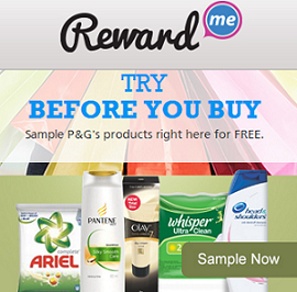 Online Free Tips & Tricks : Free Samples From Reward Me by P&G