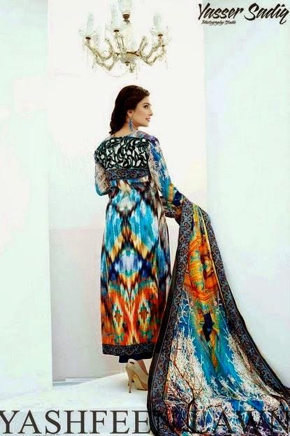 Yashfeen Lawn Dress Collection by Ayeza Khan