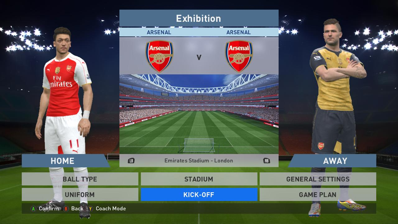Pes modif pes 2016 arsenal 15 16 kit with world club badge by