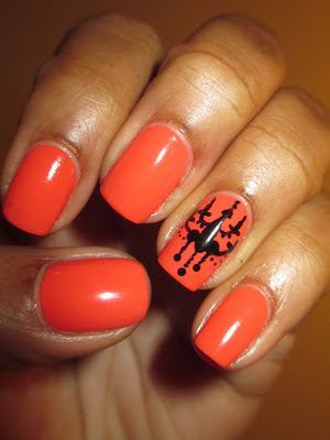 Revlon, Mad About Mango. chandelier, silhouette, bold, elegant, nails, nail art, nail design, mani