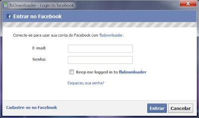baixar todas as fotos do meu facebook de uma vez