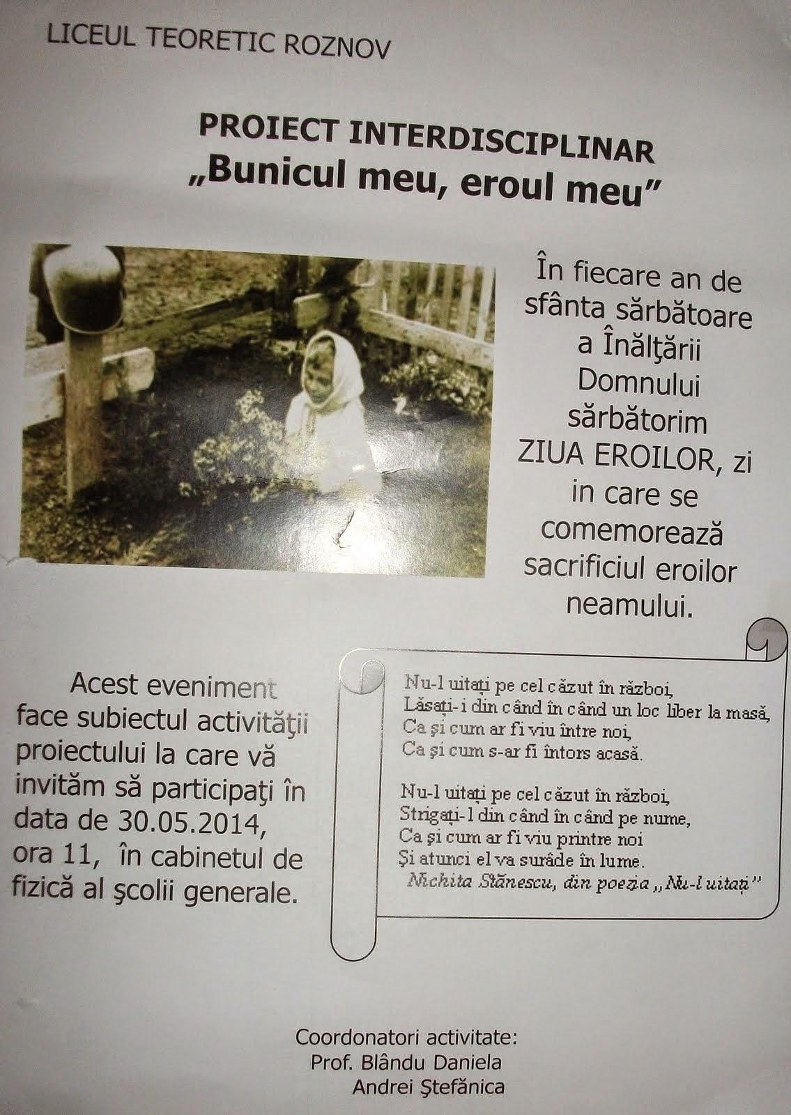 Aspecte de la comemorarea Zilei Eroilor, Roznov, 29 mai 2014...