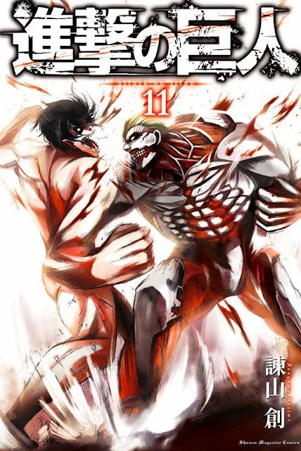 Okładka mangi Shingeki no Kyojin (Attack on Titan)