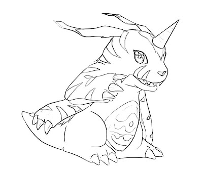 Printable Coloring Pages of Gabumon