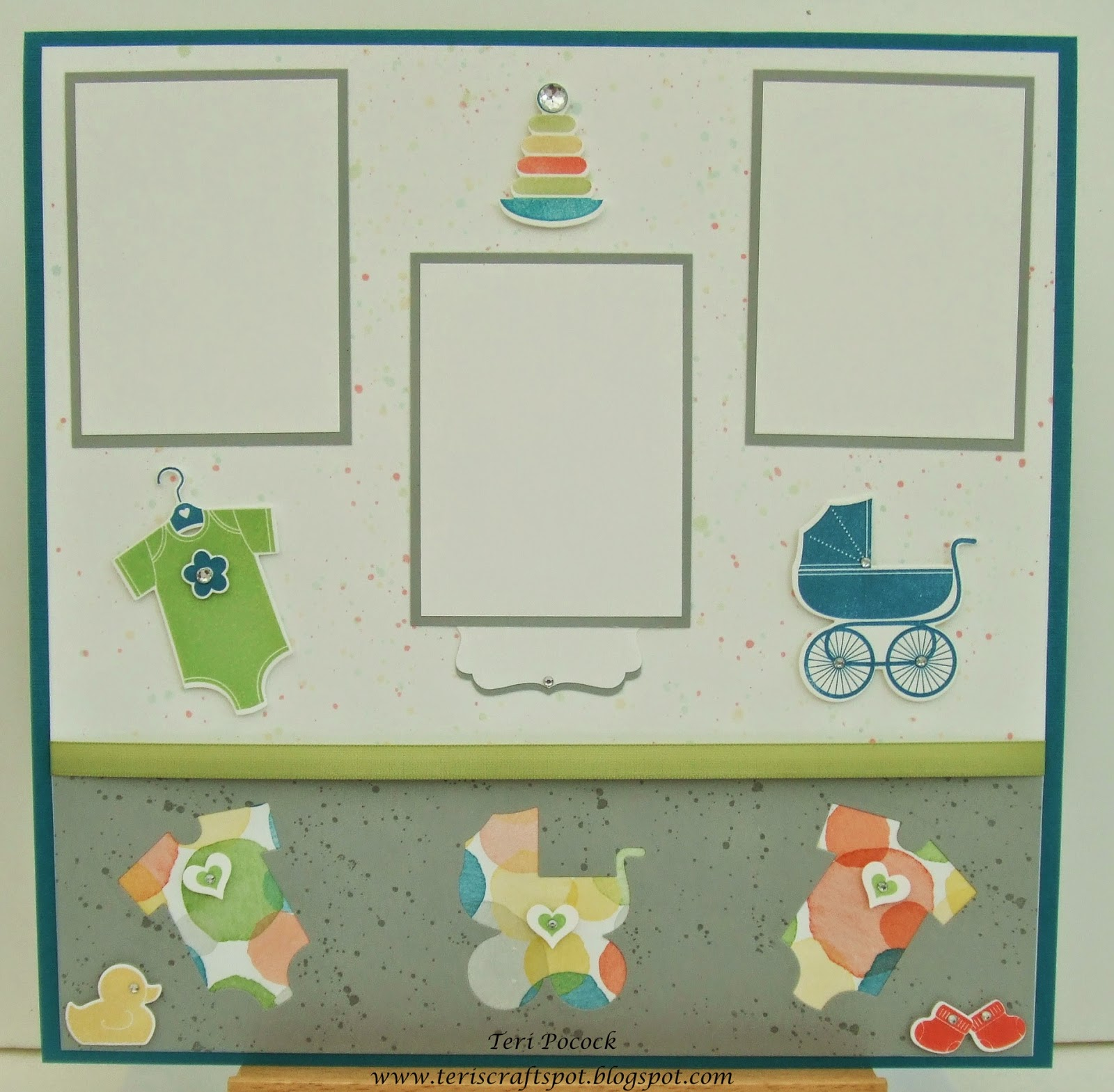 Baby scrapbook ideas uk - Something For Baby Scrapbook Page