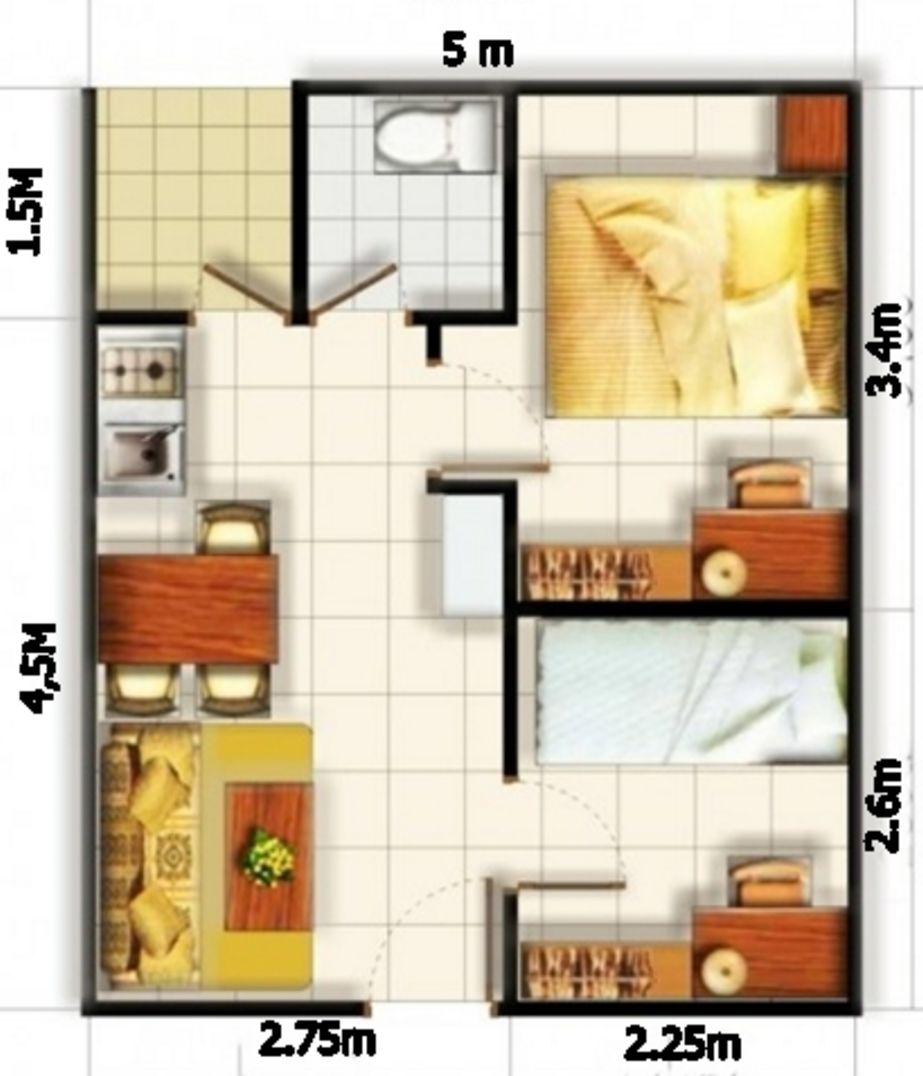 bentuk denah ukuran rumah type 36 idaman
