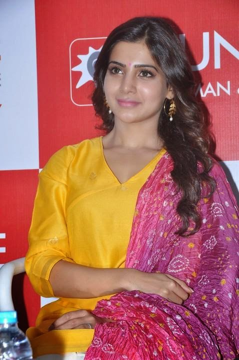Actress Samantha Latest Cute Hot Spicy Photos Gallery at Sunshine Centre Launch