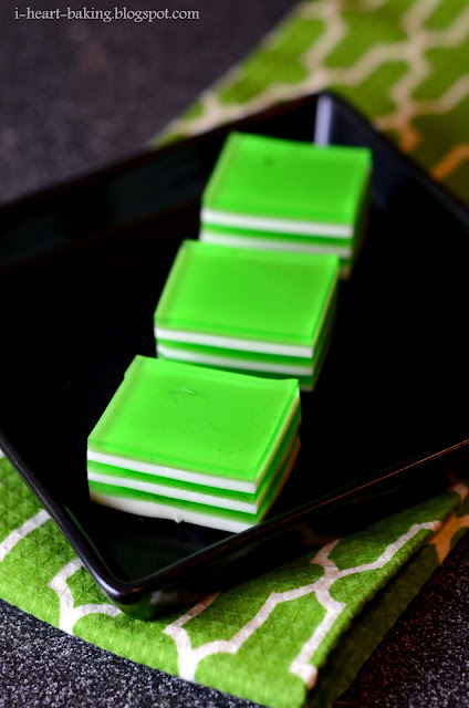 heart baking!: lime green layer jello for st. patrick's day