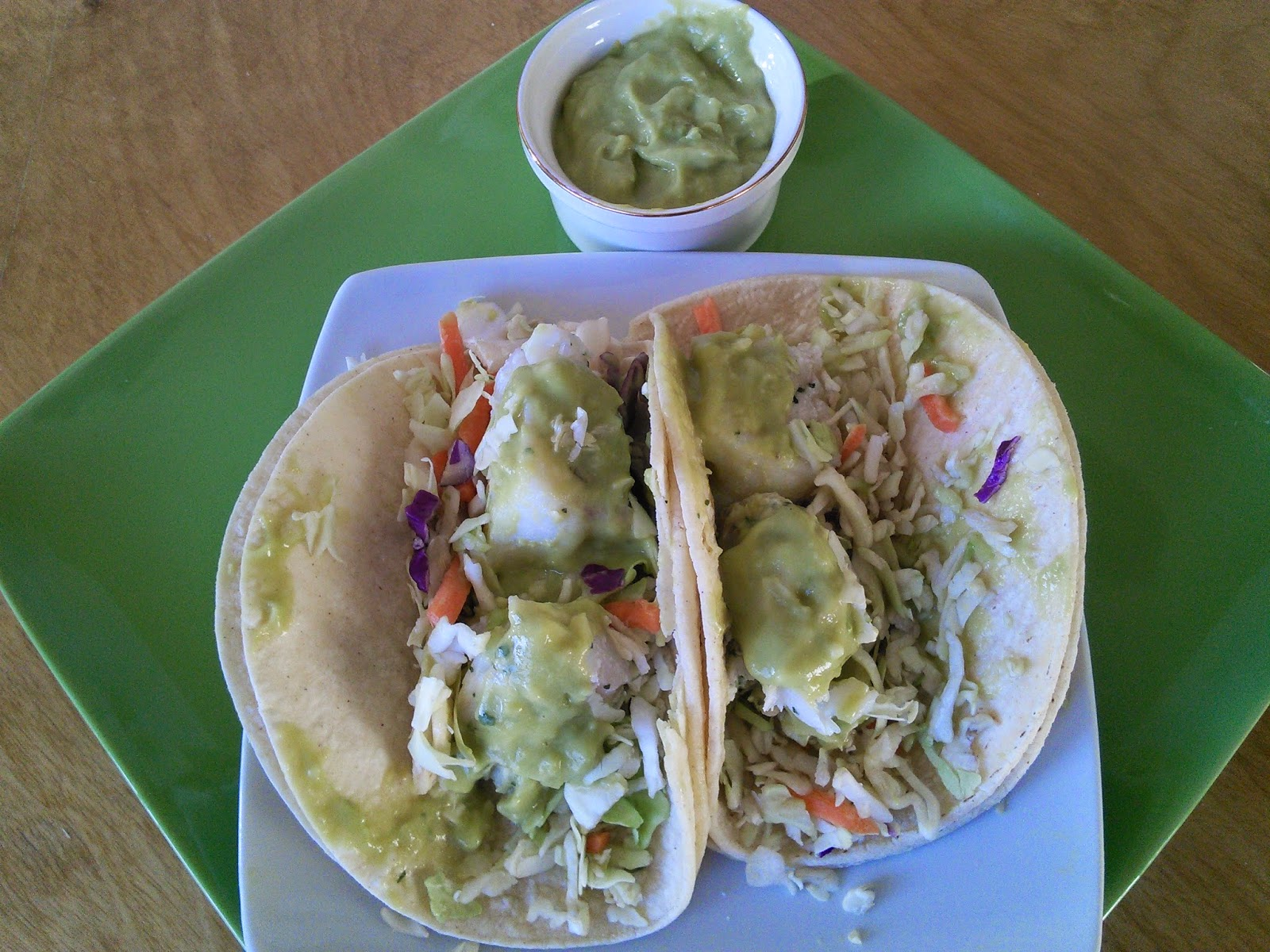 Mom knows best easy fish tacos with avocado cream made for Make fish tacos