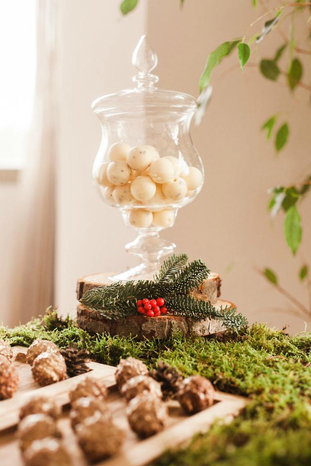 Cena de Navidad Mi Boda Rocks - Blog Mi Boda - Candy Bar bosque