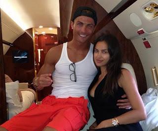 Cristiano Ronaldo tweet, Ronaldo and Irina Shayk