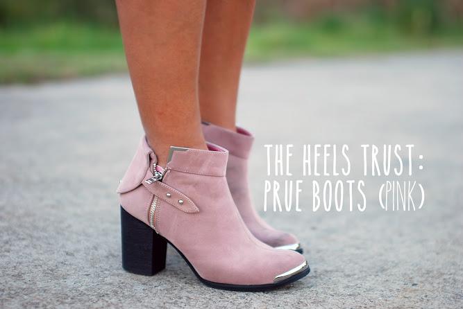 The Heels Trust Prue Boots Pink Blog
