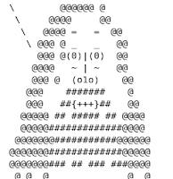 Imagen de RMS (Richard Stallmannen ASCII)
