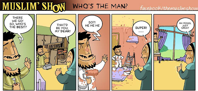 Muslimshows,cartoon,comics,family,wife,husband