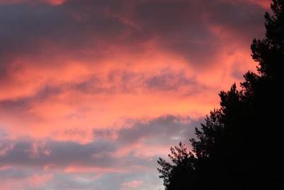 auringonlaskun pilvet