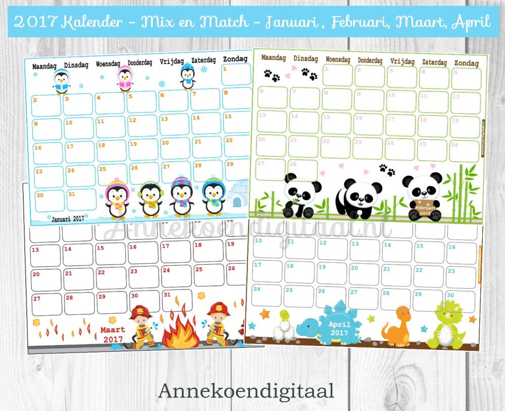 2017 Kalender printables