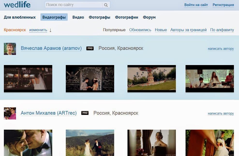 соц.сеть профессиональных видеографов и фотографов