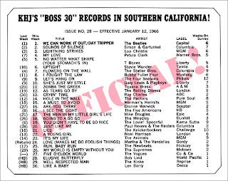 KHJ Boss 30 No. 28 - January 12, 1966