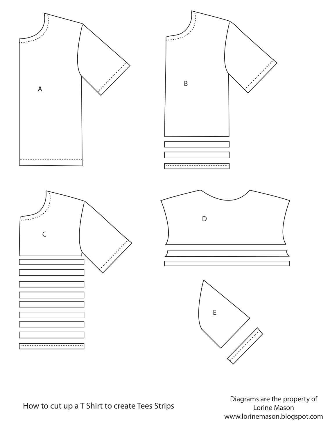 how to cut a tshirt into strips
