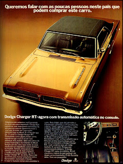 propaganda Dodge Charger RT - 1974,  anos 70.  brazilian advertising cars in the 70. história da década de 70; Brazil in the 70s; propaganda carros anos 70; Oswaldo Hernandez;