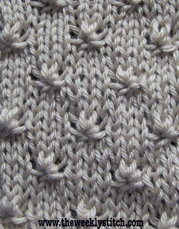 Knitting Stitch Knot : Knot Stitch The Weekly Stitch